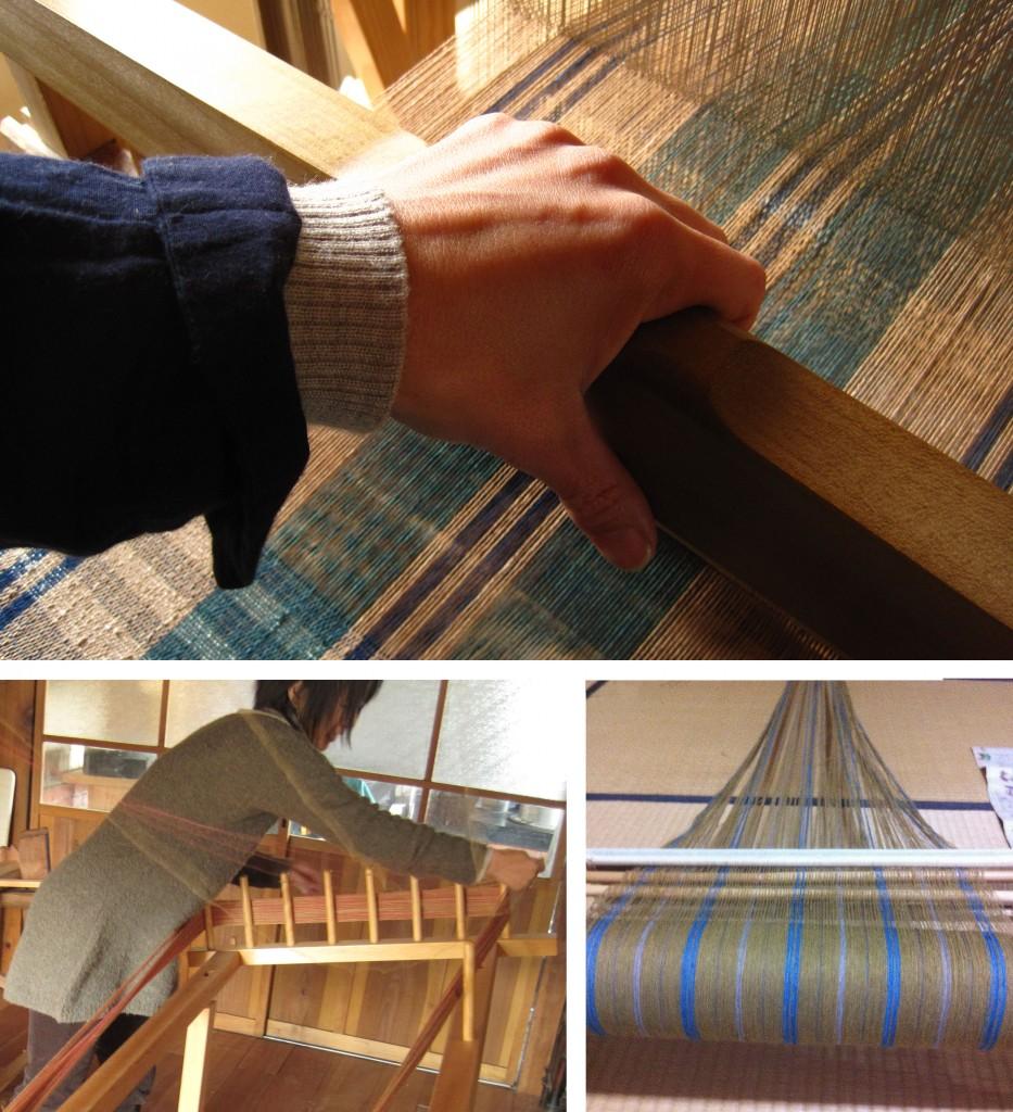 織り、整経、ちきり巻